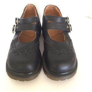 Dr. Martens Shoes - Dr Martens Black Mary Jane Chunky Goth Dbl T Bar